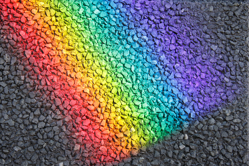 rainbow-ashphalt