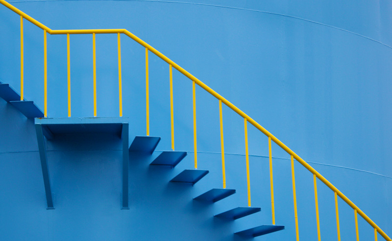 yellow-and-blue-stairs