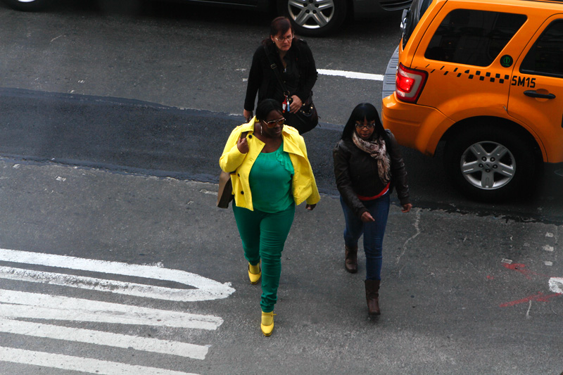 yellow green outfit african american new york photography