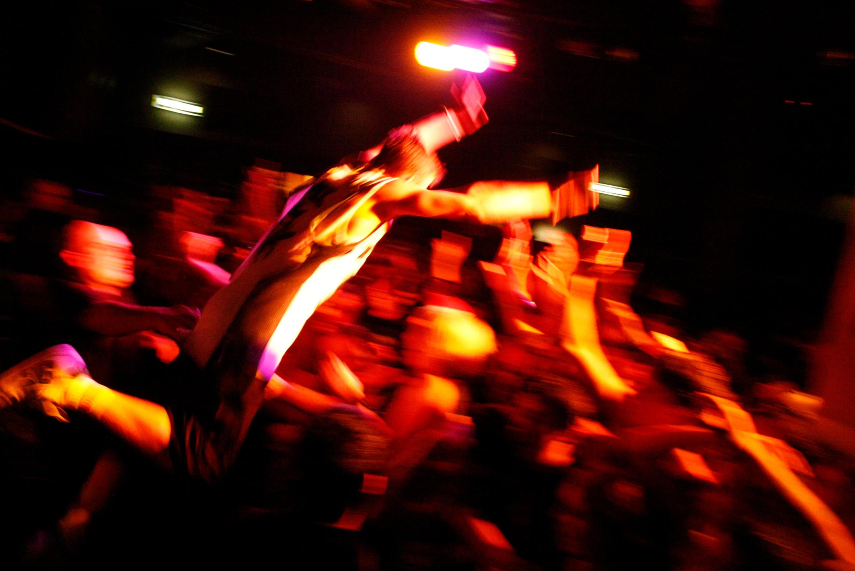 crowd-surfing